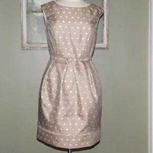 NWOT ELIZA J Polka Dot Satin Tulip Dress/ Size 10